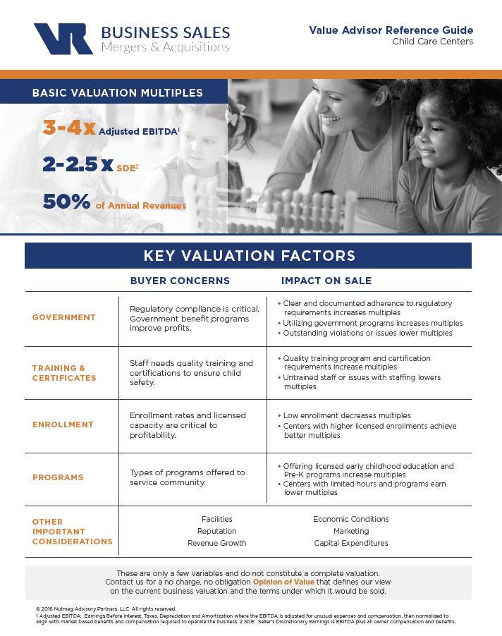 Child Care Centers Value Advisor Preview Image