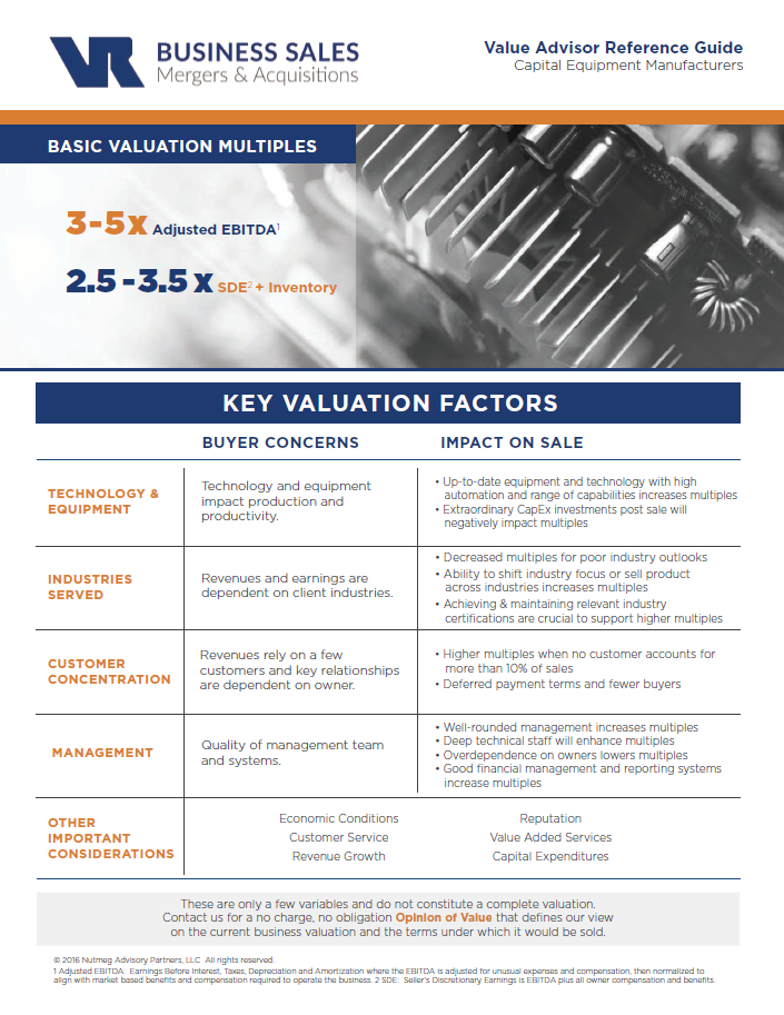 Capital Equipment Value Advisor Preview Image