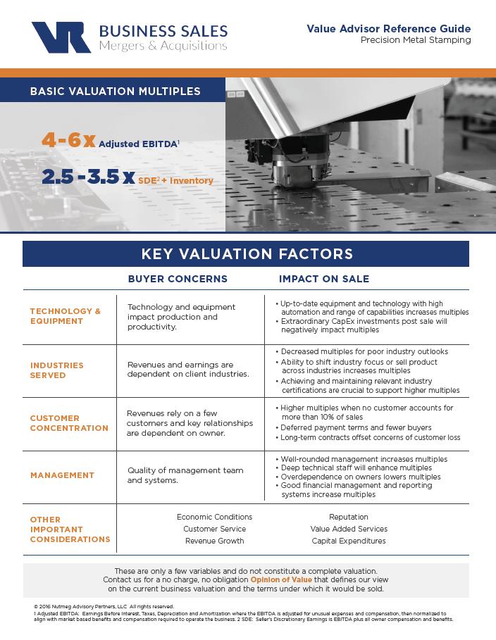 Precision Metal Stamping Value Advisor Image