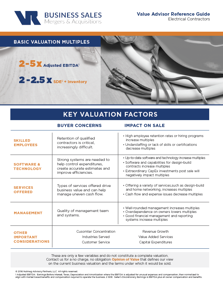 Electrical Contractors Value Advisor Preview Image