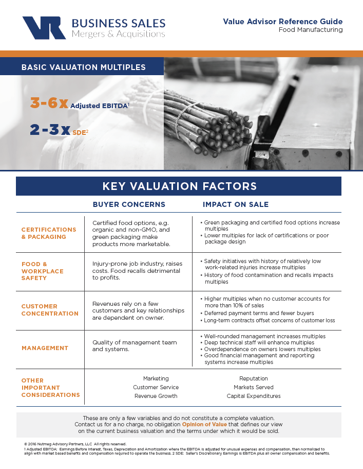 Food Manufacturing Value Advisor Image