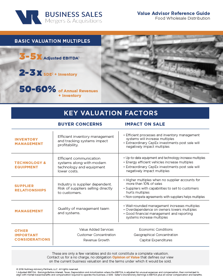 Food Wholesale Distribution Value Advisor Preview Image