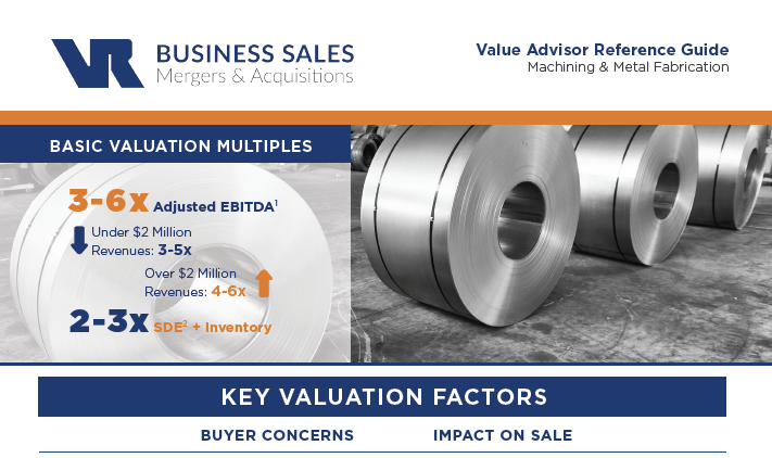 Machining & Metal Fabrication Value Advisor | Selling My