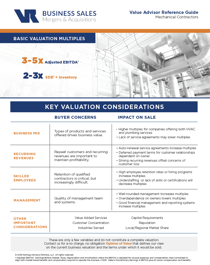 Mechanical Contractors Value Advisor Preview Image