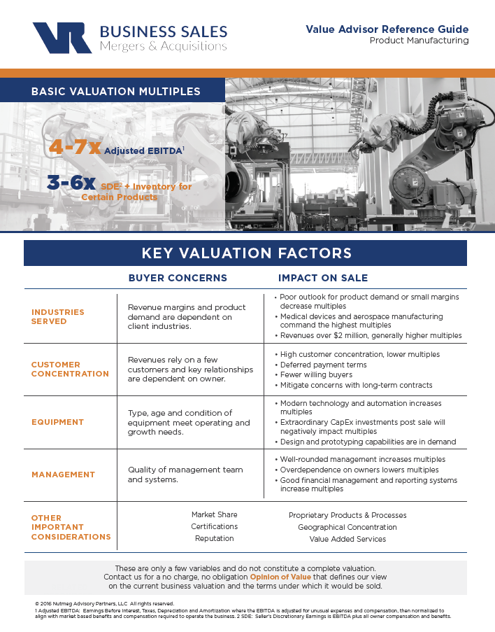 Product Manufacturing Value Advisor Preview Image